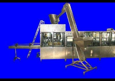 Елеватор за подкачване на капачките към бункера за ориентиране
